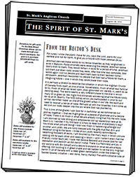 The Spirit of St. Mark's Newsletter